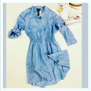 Chelsea & Theodore Chambray Shirtdress button down